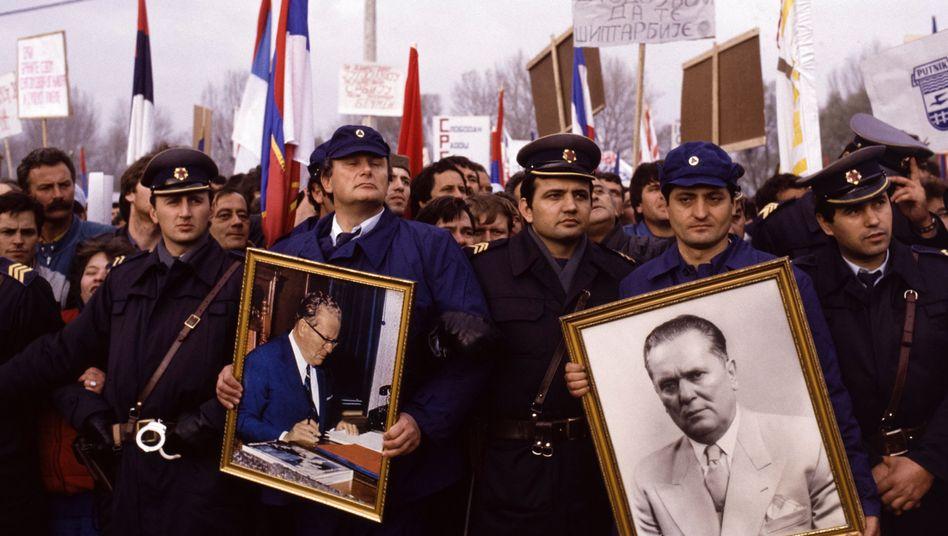 Demo in Jugoslawien, 1988.