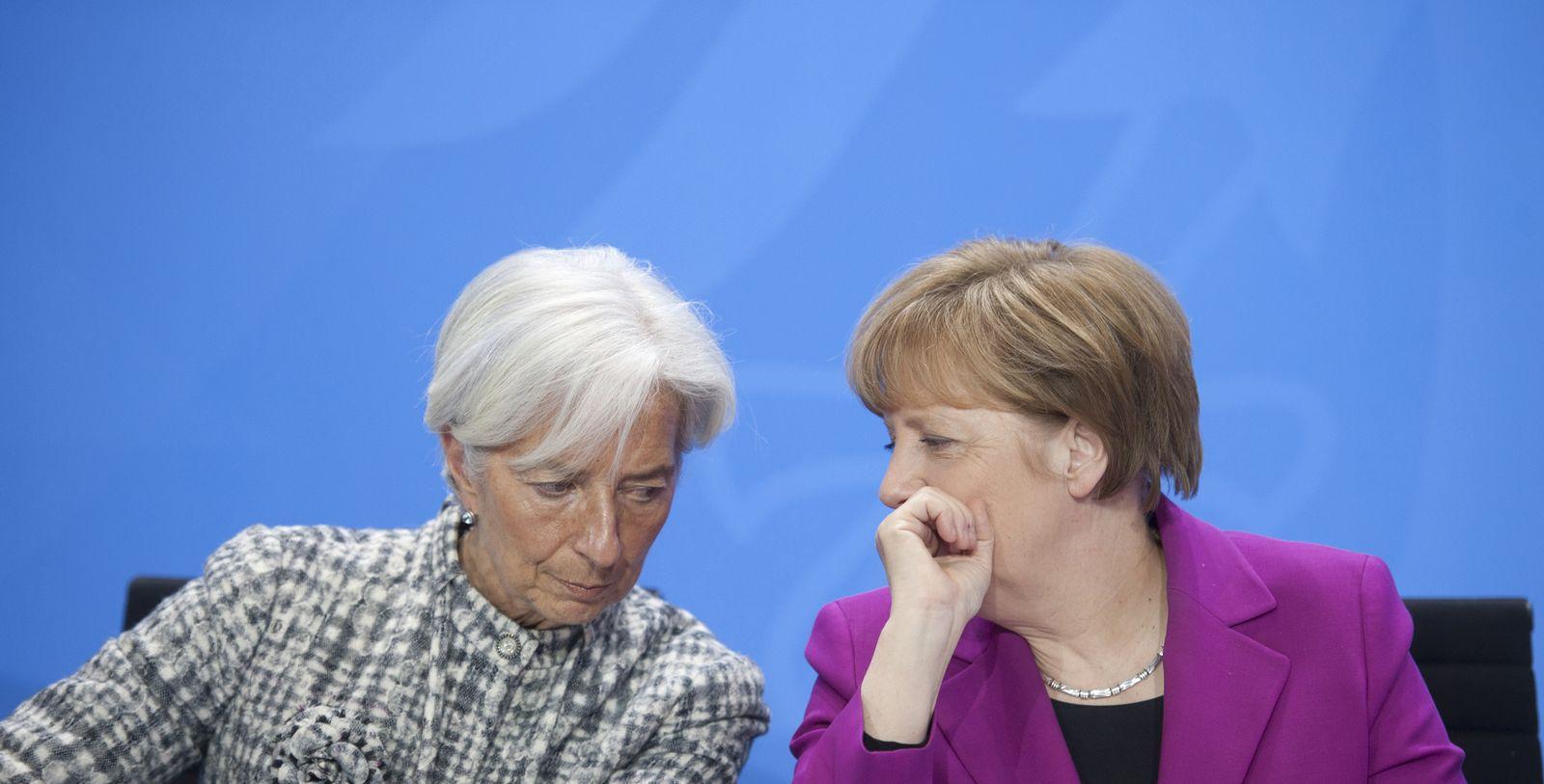 Christine Lagarde/ Angela Merkel