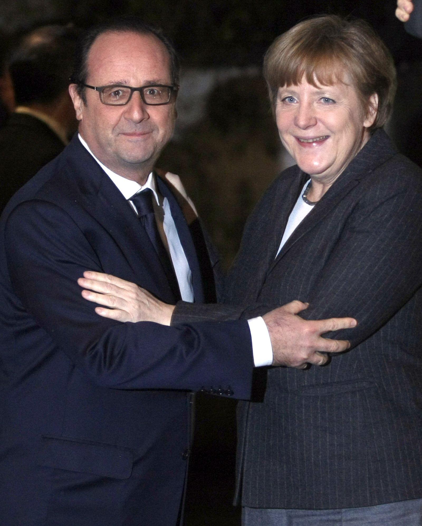 Merkel Hollande
