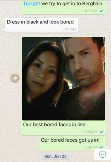 Screenshot des WhatsApp-Dialogs mit Freund Daniel