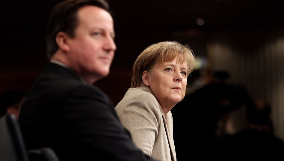 Nerves are frayed between Britain and Germany ahead of David Cameron's meeting with Angela Merkel on Friday.