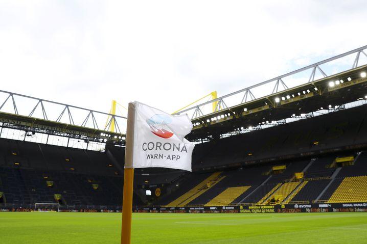 Keine Zuschauer im Dortmunder Stadion