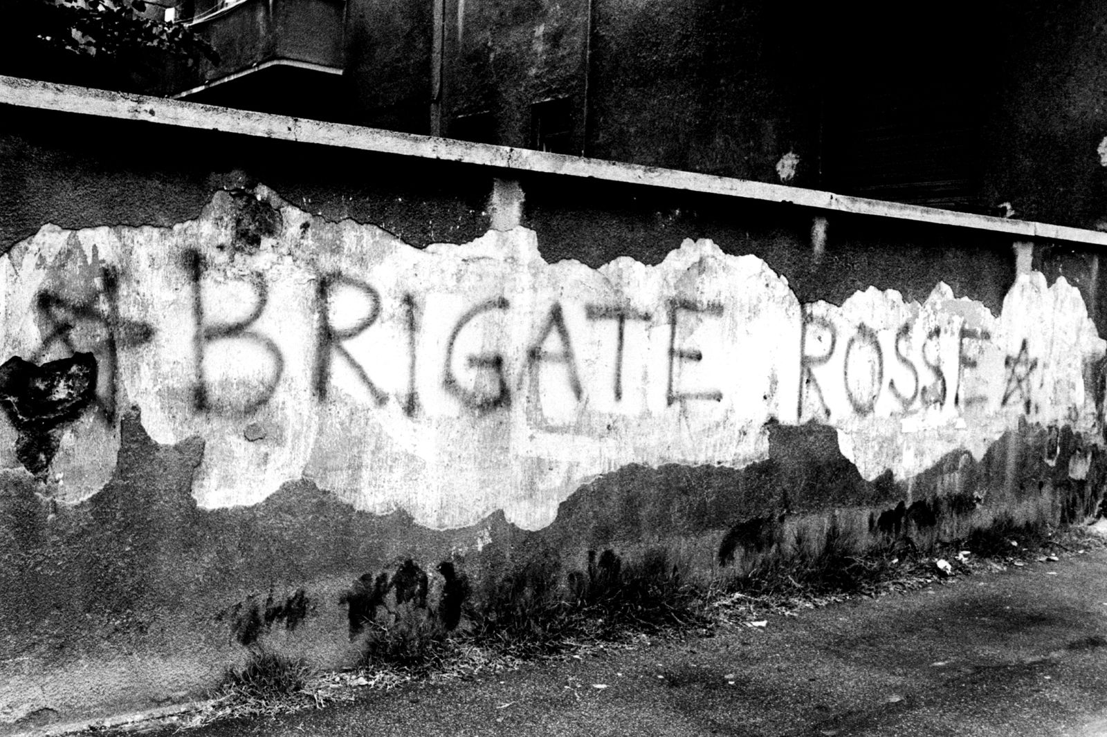 A Graffiti On A Wall Exalting The Red Brigades
