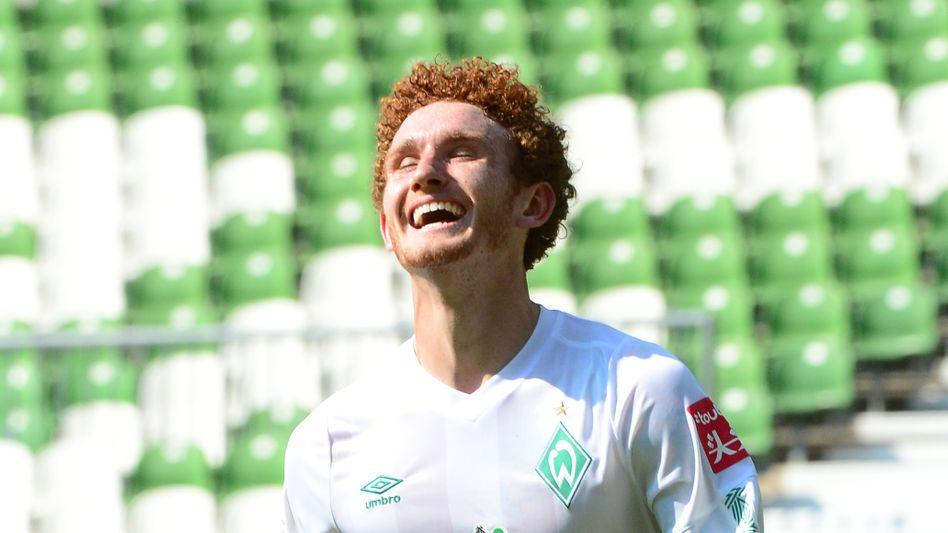 Joshua Sargent erzielte nach seiner Einwechslung den sechsten Bremer Treffer