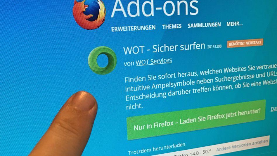 Browser-Erweiterung Web of Trust (WOT)