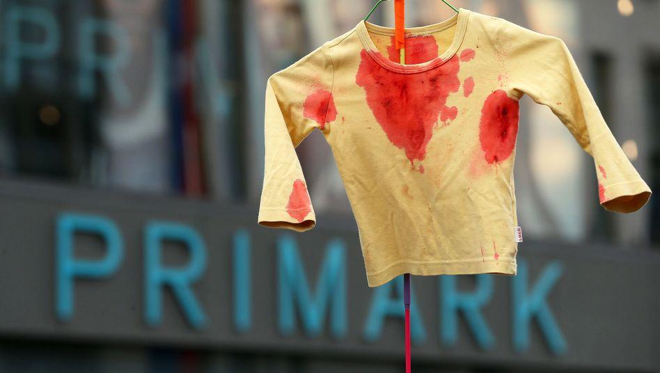 Protest gegen Primark in Frankfurt