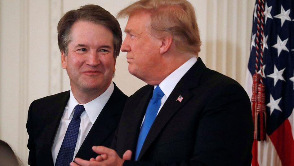 Brett Kavanaugh und Donald Trump