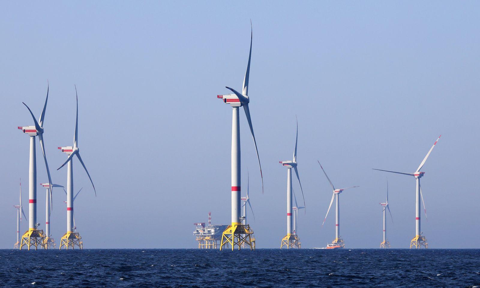 """Offshore-Windpark """"Wikinger"""" in der Ostsee"""
