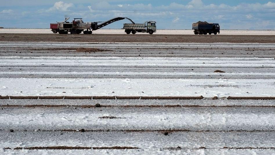 Lithium-Abbau in Bolivien