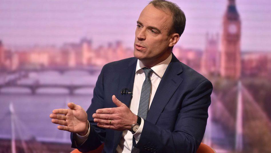 Glaubt an einen fristgerechten Brexit: Großbritanniens Außenminister Dominic Raab