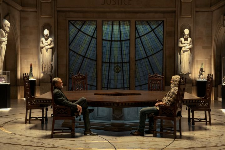 Szene mit SuperhelBrüdern Sheldon (Josh Duhamel, r.) und Walter Sampson (Ben Daniels): Wie war das gleich noch mit der Verantwortung?