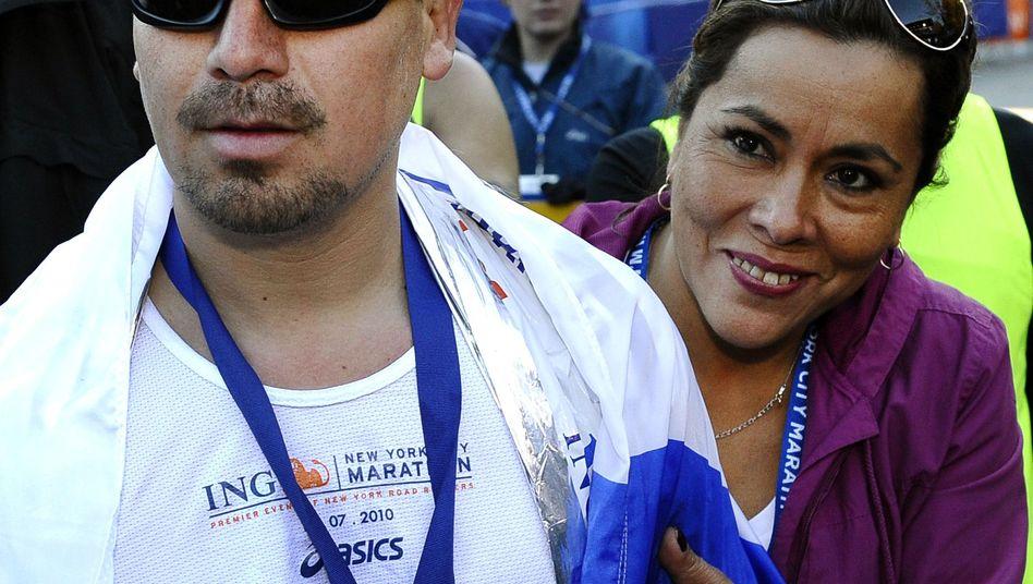 """Edison Peña und seine Frau Angelica nach dem Zieldurchlauf: """"Mut und Kraft"""""""
