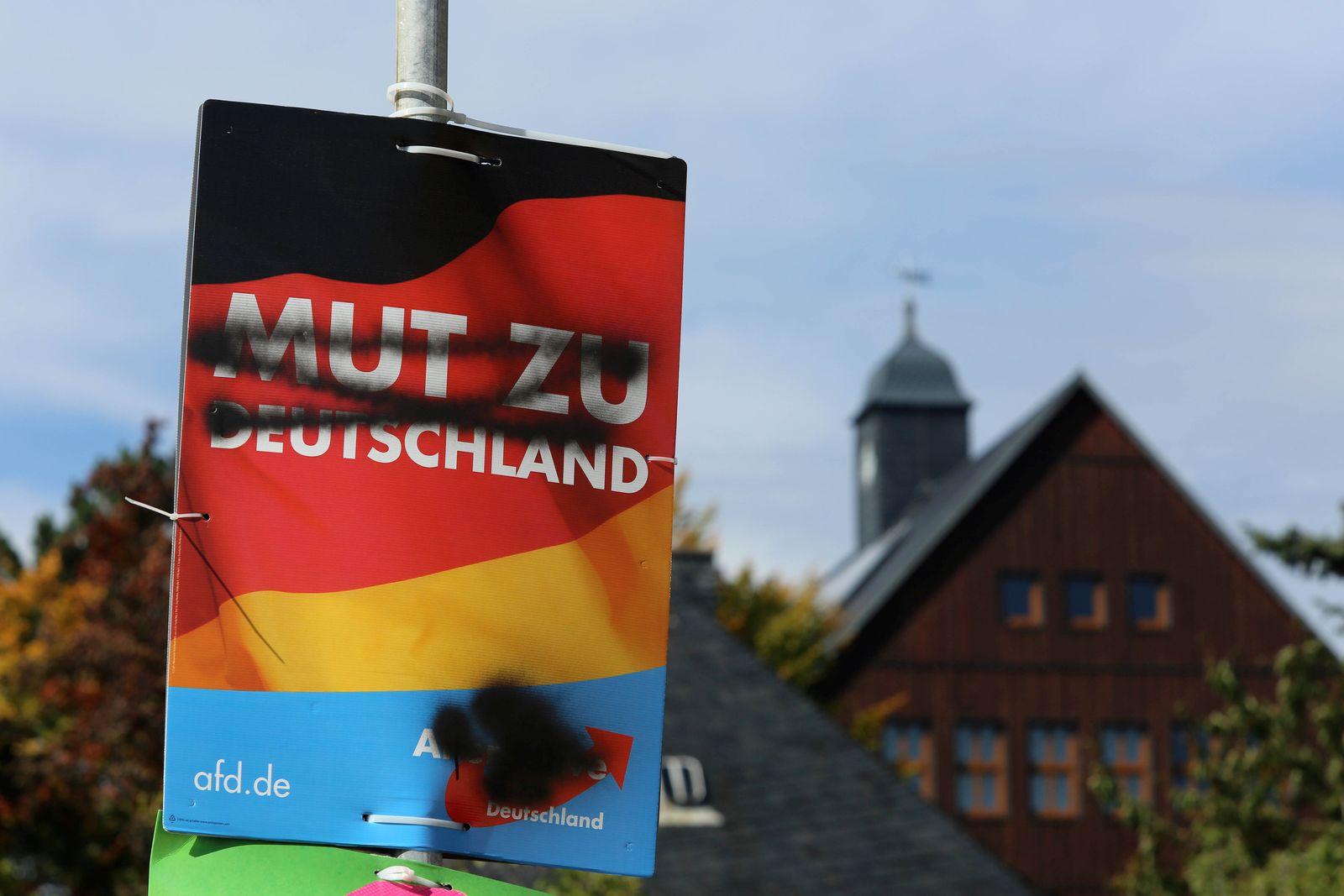 AfD-Wahlplakat / Altenberg