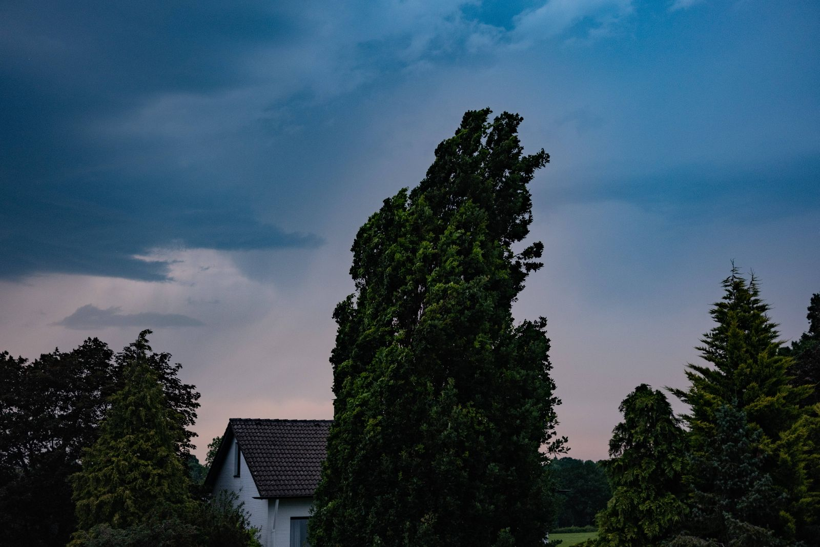 Heavy thunderstorms in Aachen after the first heat wave of summer. In Aachen on June 19, 2021