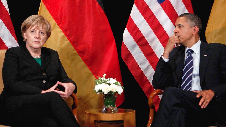 Trans-Atlantic partners Angela Merkel and Barack Obama: A tone you usually don't hear among friends