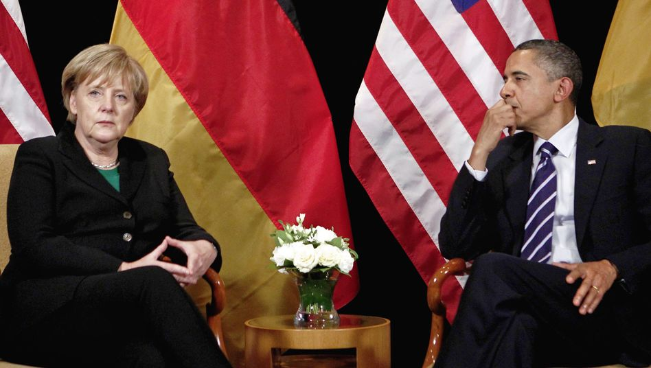 "German Chancellor Angela Merkel and US President Barack Obama at the G-20 Summit in Seoul. ""When cornered, Merkel can be tenacious, but is risk averse and rarely creative,"" reads one cable."
