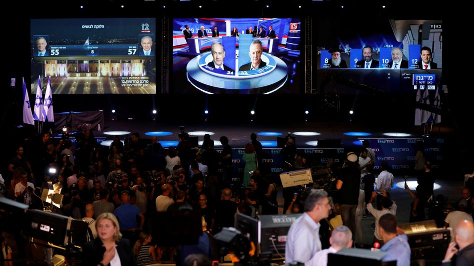 Prognosen nach der Israel-Wahl: Gantz knapp vor Netanyahu