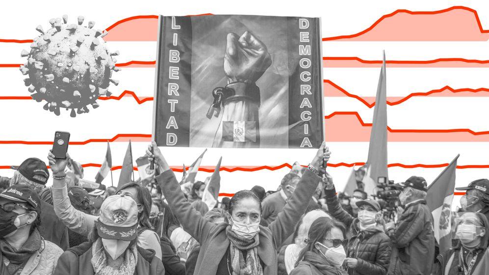Demonstration in Lima im Juni 2021 (Foto: AFP)
