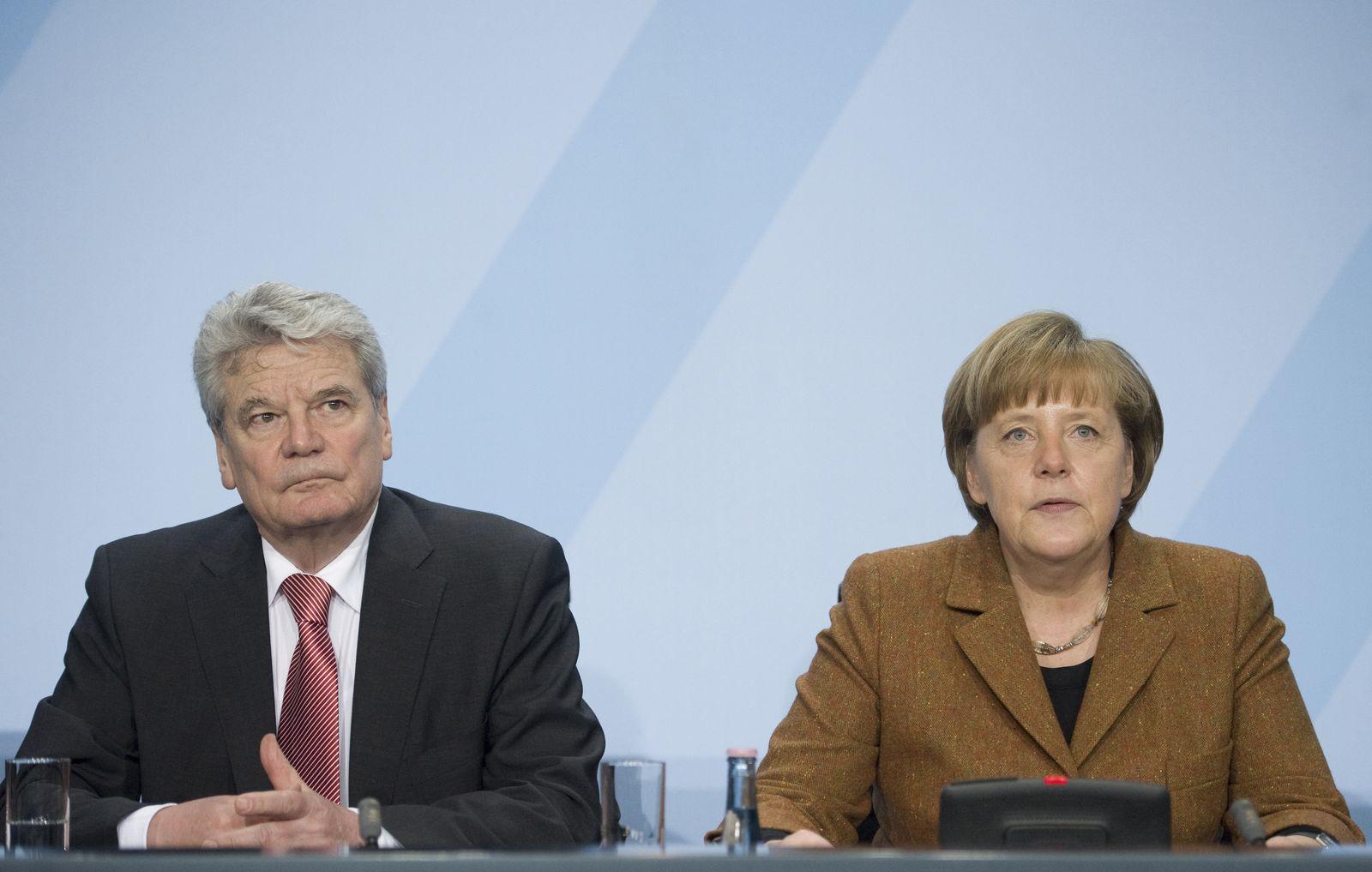 NICHT VERWENDEN Gauck / Merkel