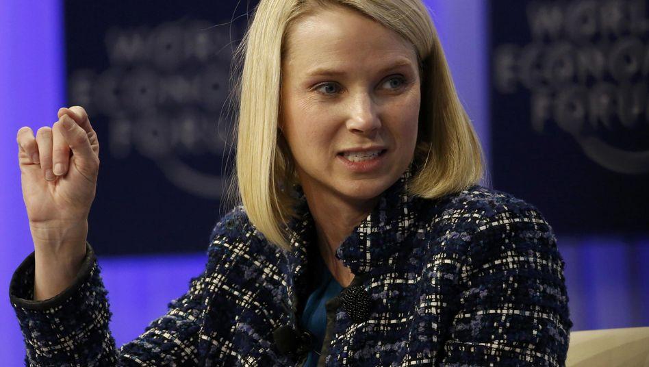 Yahoo-Chefin Mayer (beim Weltwirtschaftsforum in Davos): Honeymoon vorbei