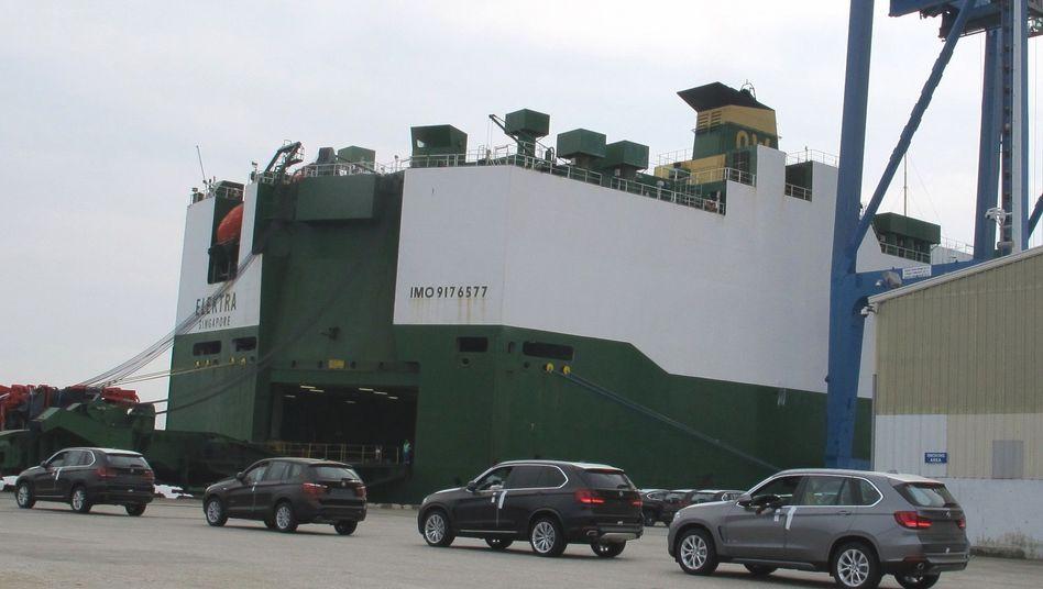 In South Carolina produzierte BMW-SUVs werden verschifft.