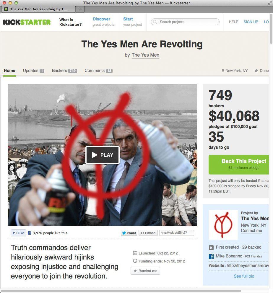 NUR ALS ZITAT Screenshot Crowdfunding-Projekte