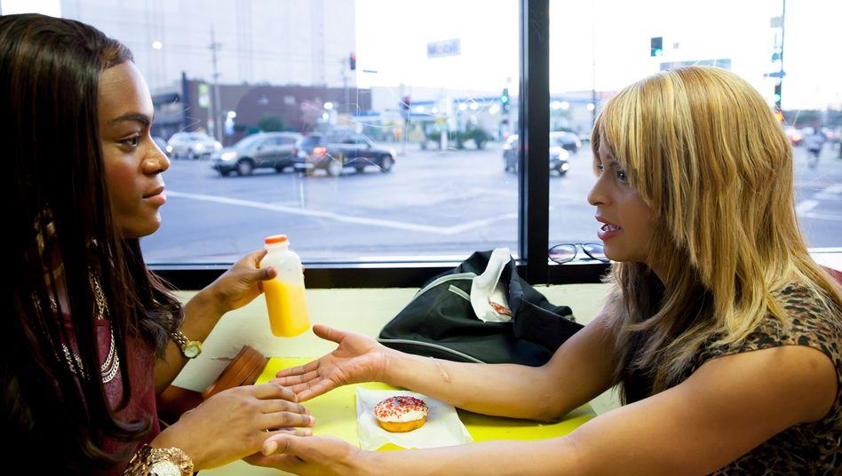 """Keine Oscar-Rede wert: Mya Taylor (l.) und Kitana Kiki Rodriguez in """"Tangerine"""""""