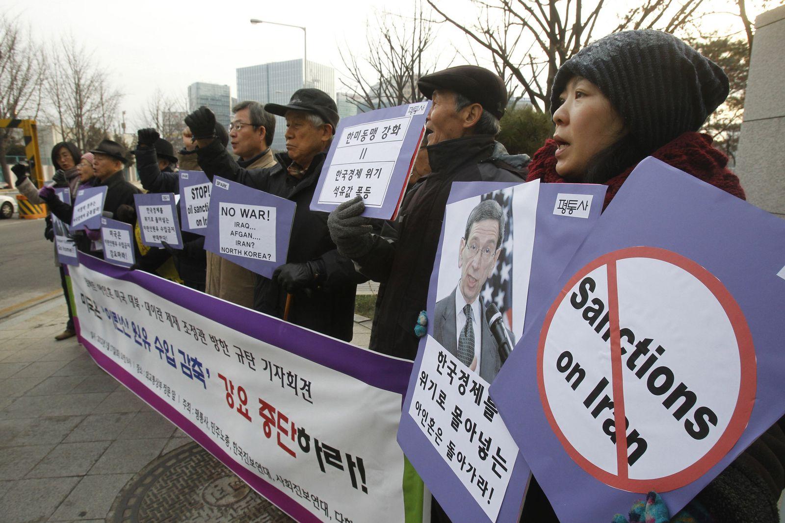 South Korea US Iran Sanctions
