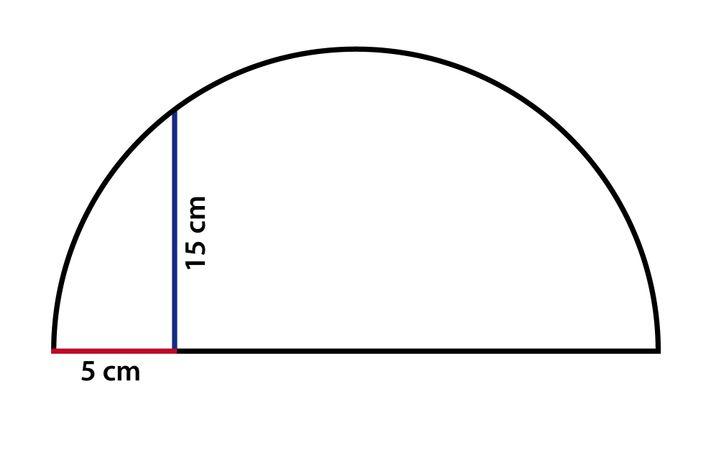 Halbkreis: Was verraten die eingezeichneten Strecken über den Kreis?