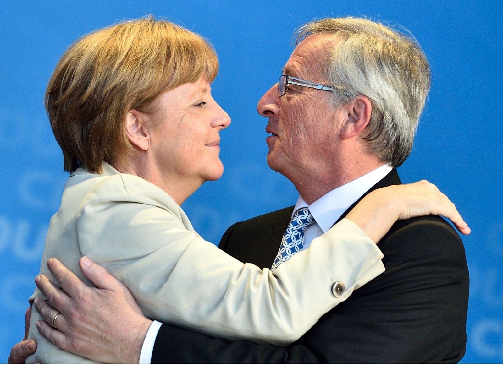 Jean-Claude Junker, Angela Merkel