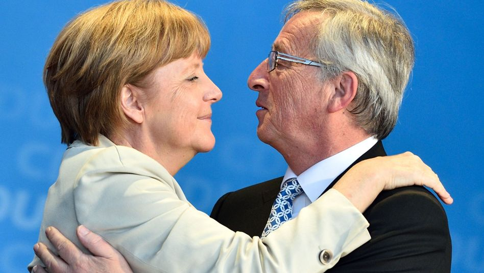 """Merkel und Juncker (Archivbild 2014): Lob der """"politischen Führungsstärke"""""""
