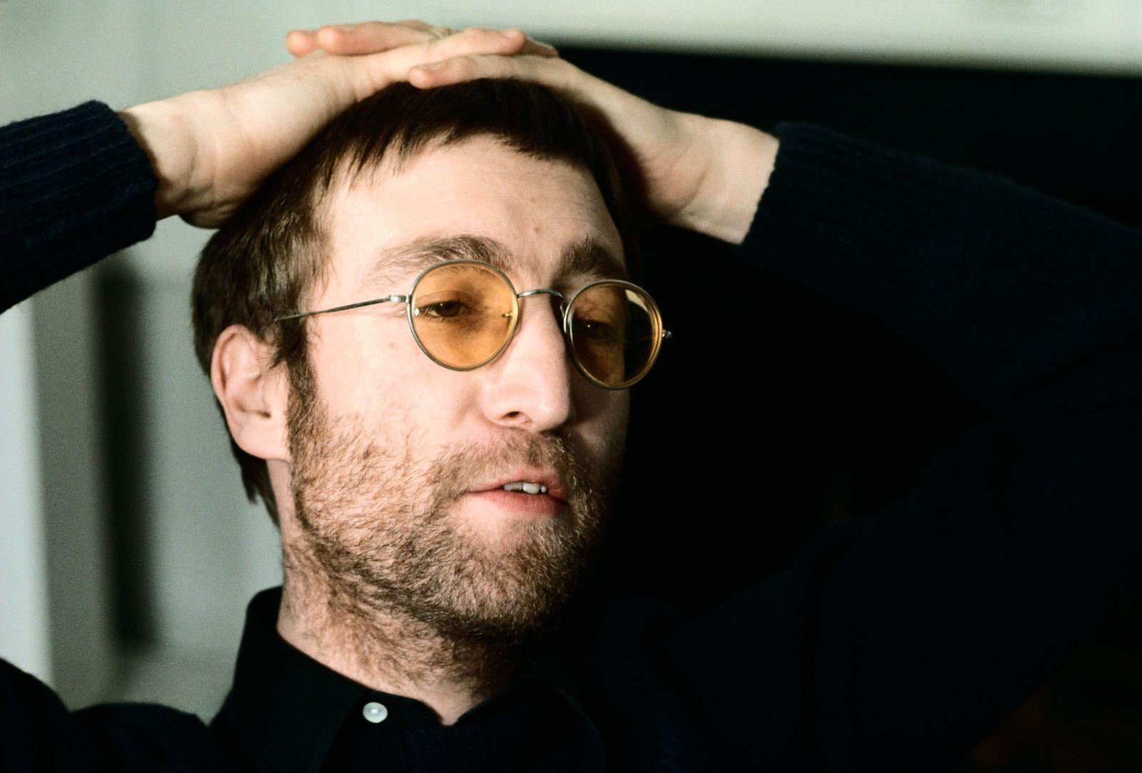 John Lennon Wearing Yellow Glasses