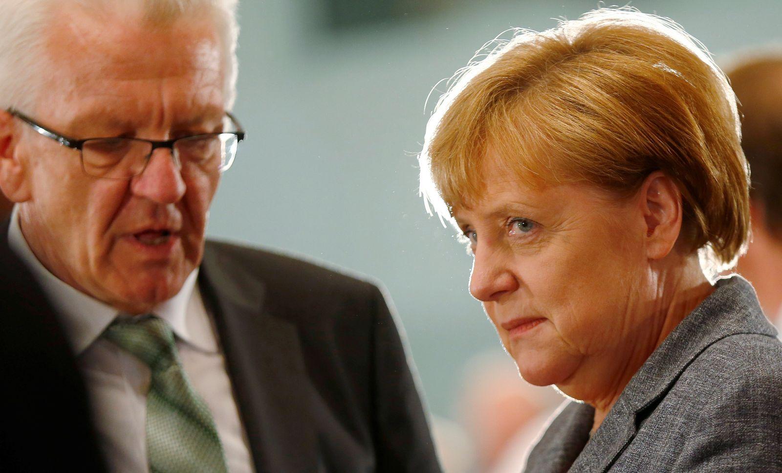 Winfried Kretschmann / Angela Merkel