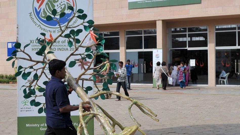Umräumen bei der Uno-Konferenz in Hyderabad: Finanzierung beschlossen