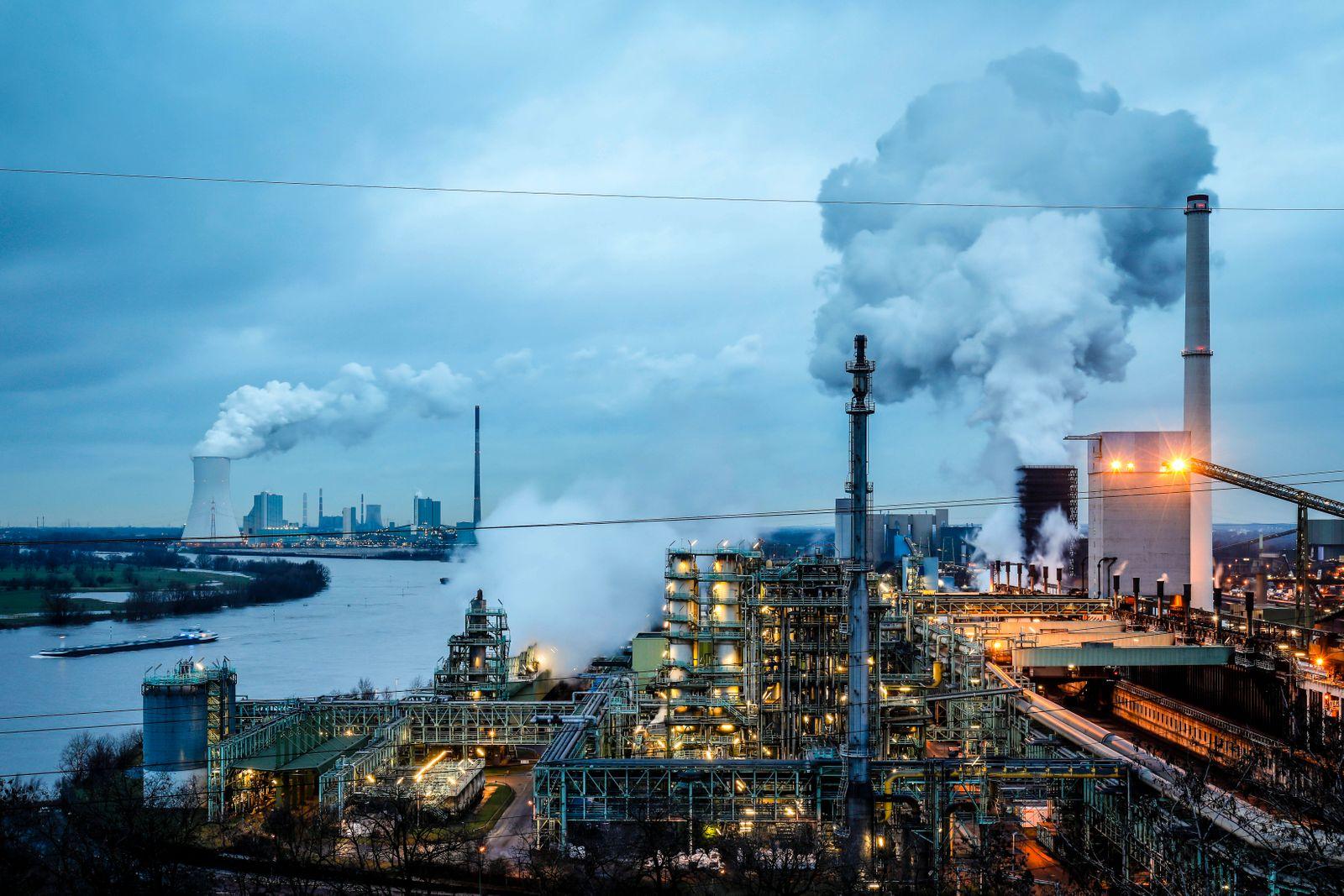 13.02.2020, Duisburg, Ruhrgebiet, Nordrhein-Westfalen, Deutschland - ThyssenKrupp Steel Europe, KBS Kokerei Schwelgern