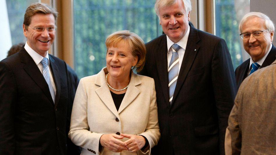 Cheftrio Merkel, Westerwelle, Seehofer: Endspurt zur Kanzlerwahl
