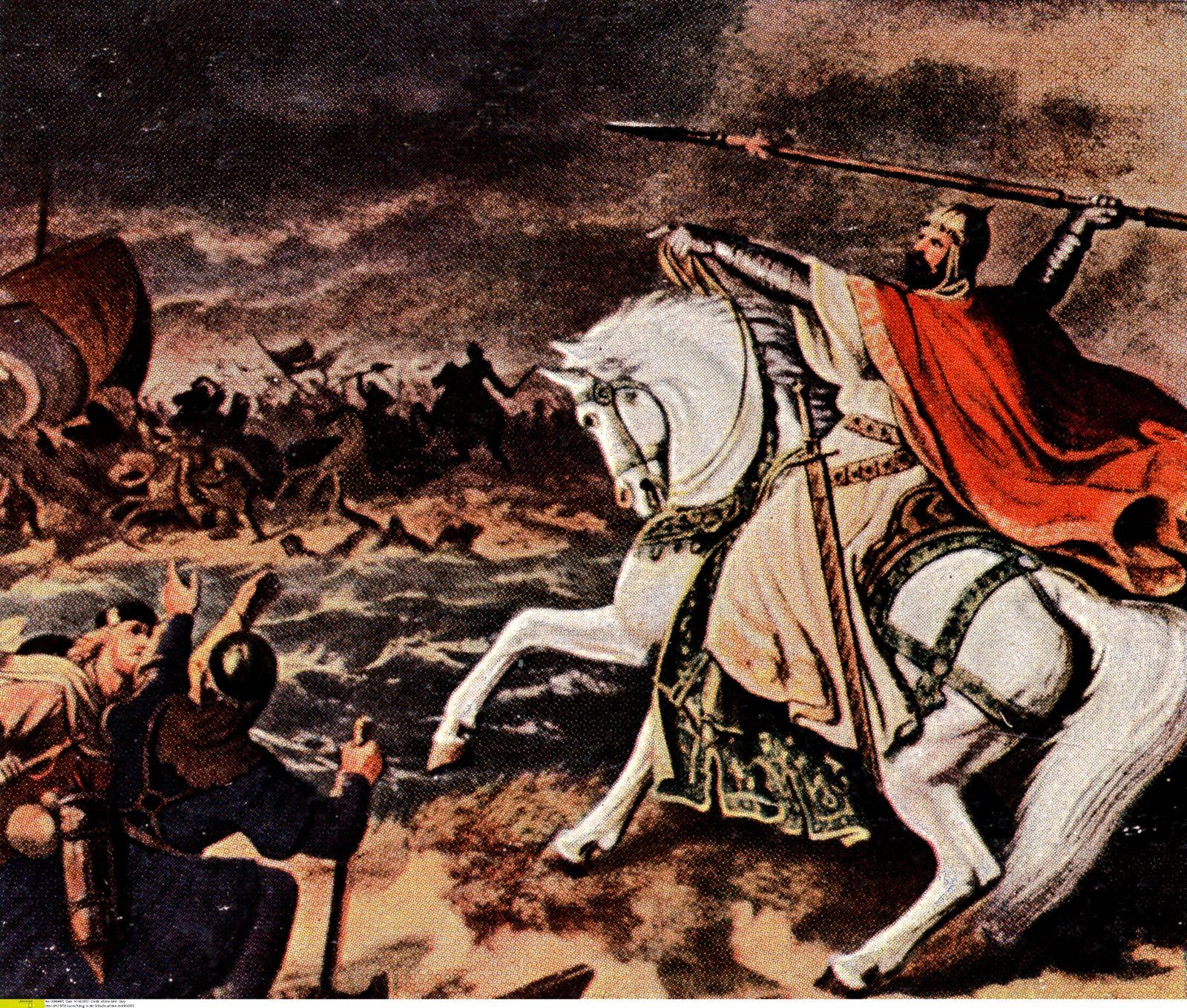Otto I (912-973) kaiser/König: in der Schlacht auf dem lechfeld 955