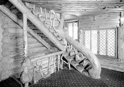 Treppenhaus im West-Flügel: Auftrag der Eisenbahngesellschaft Northern Pacific Railroad