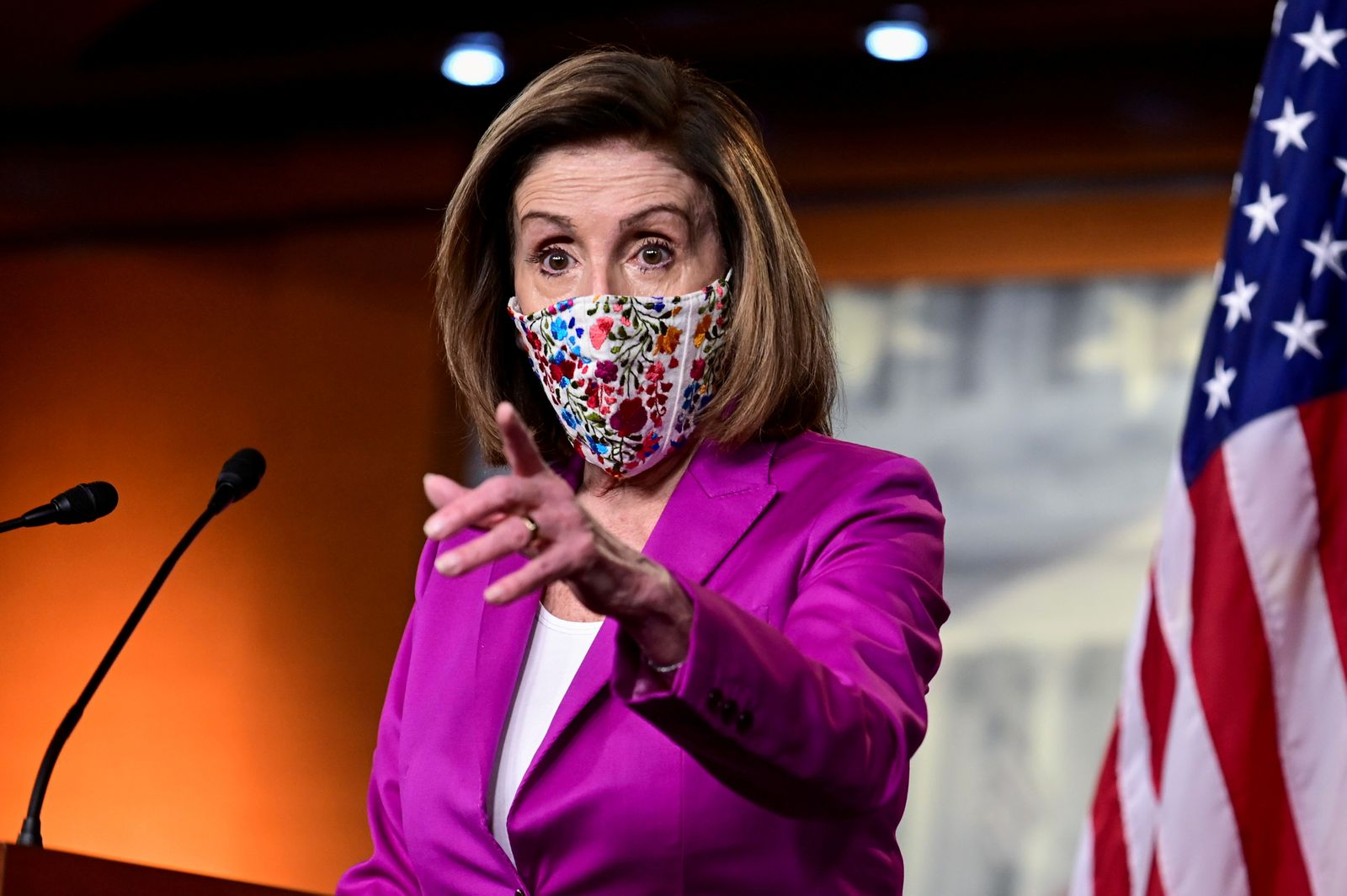 FILE PHOTO: U.S. House Speaker Nancy Pelosi holds news conference at U.S. Capitol a day after violent protests in Washington
