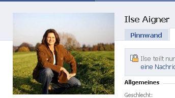 """Facebook-Profilseite von Ilse Aigner: """"Bedenken nicht ausgeräumt"""""""