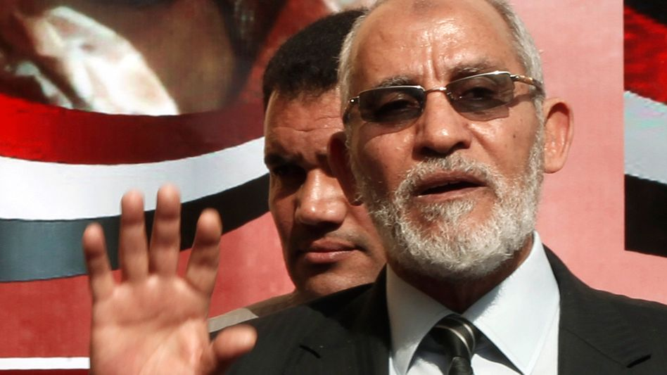 Muslim Brotherhood leader Mohamed Badie has been arrested by Egyptian security forces.