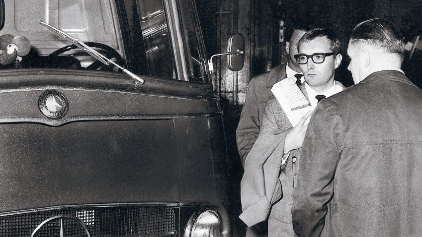 Verhafteter SPIEGEL-Herausgeber Augstein am 27. Oktober 1962
