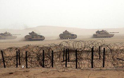 Bald werden die US-Panzer durch den irakischen Sand rollen