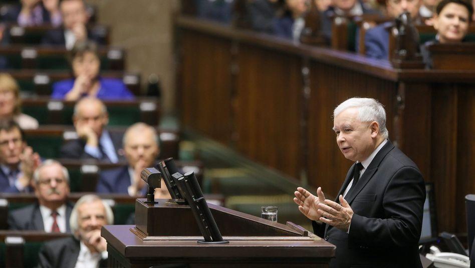 Jaroslaw Kaczynski, Chef der polnischen Regierungspartei