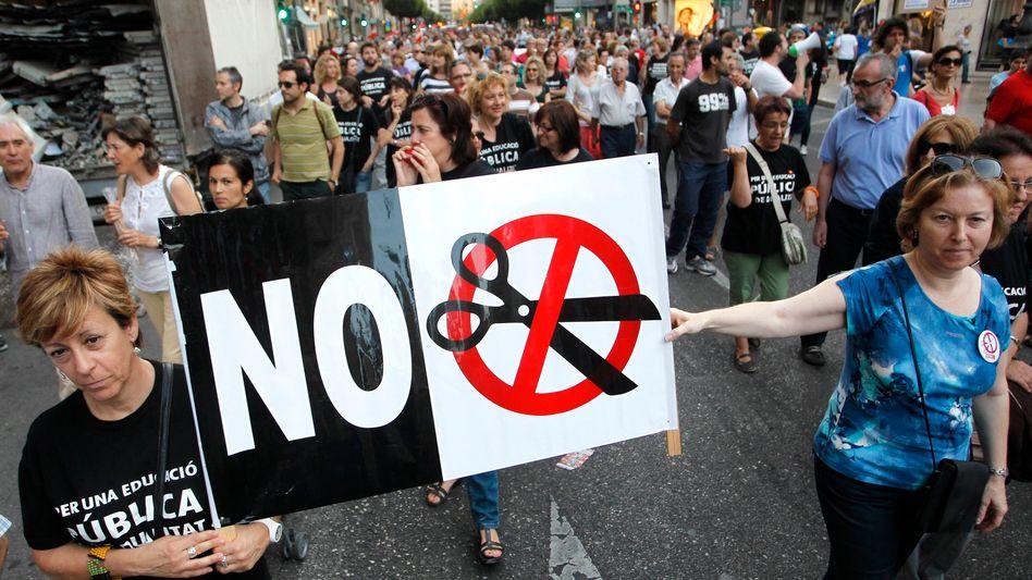 """Proteste in Spanien: """"Keine europäische Rettungsaktion"""""""