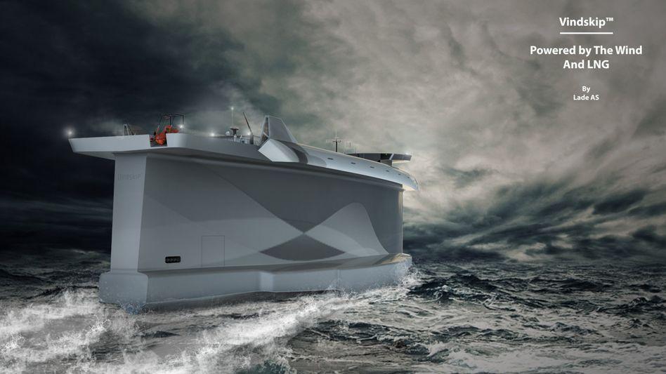 Simulation: Containerschiff hart am Wind