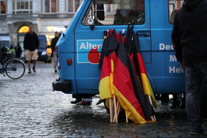 AfD-Kundgebung in Rostock