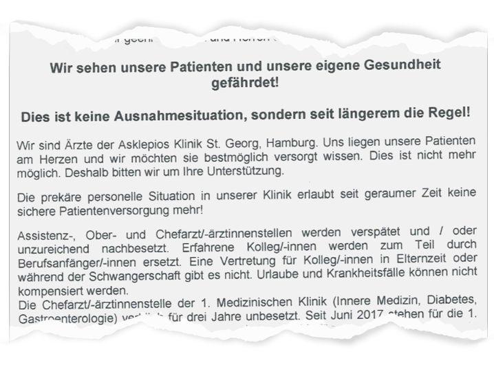 Ärztebrief an den Marburger Bund