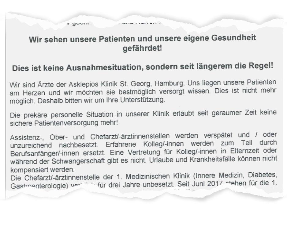 EINMALIGE VERWENDUNG Marburger Bund Landesverband Hamburg / Auszug