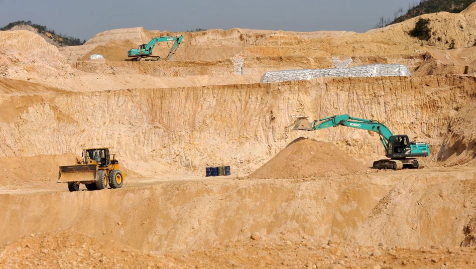 Förderung Seltener Erden in China (Provinz Jiangxi, Dezember 2010): Monopolstellung bleibt bestehen
